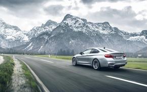 Картинка BMW, German, Car, Speed, Mountains, Road, Rear