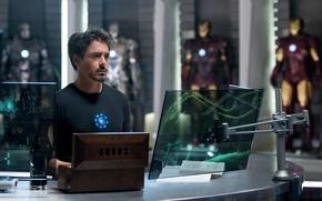 Обои Железный человек, Iron Man, Tony Stark, Robert Downey Jr, Тони Старк, Роберт Дауни младший
