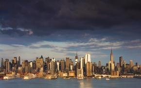 Картинка здания, небоскрёбы, New York, причалы