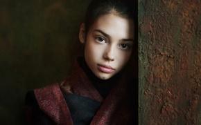 Картинка портрет, Настя, девочка.кареглазая