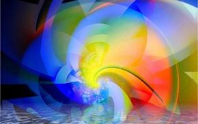 Картинка свет, линии, узор, цвет, объем