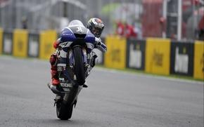 Картинка Фото, Гонка, Мотоцикл, Гонщик, Трасса, Monster, Yamaha, Победа, MotoGP, Team, Скорось, YZR-M1, Ямаха, Tech 3, …