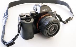Картинка макро, Sony A7 & Sigma 30mm, фон, камера
