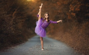 Картинка девочка, балерина, танец