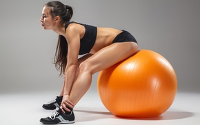 Картинка ball, female, workout, fitness