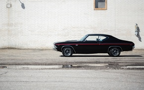 Обои chevrolet chevelle, ss, l78, hardtop coupe, 1969, muscle car