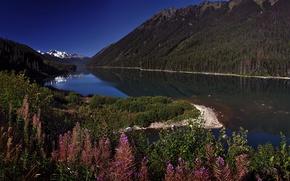 Обои сентябрь, река, горы
