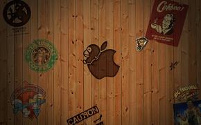Картинка фон, Apple, Лейбл