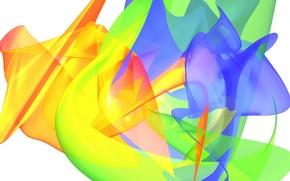 Обои цвет, радуга, краски, чернила, пятно, изгиб, обои