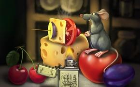 Картинка мультфильм, еда, рататуй