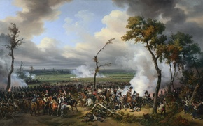 Картинка «The Battle of Hanau», «Битва за Ханау», масло, картина, холст
