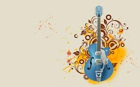 Картинка гитара, вектор, инструмент
