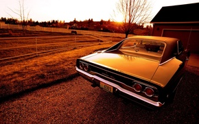 Картинка закат, Dodge, Charger, 1968, R/T