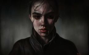 Картинка портрет, арт, девочка, by elena sai