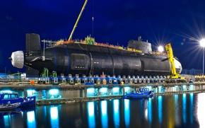 Картинка лодка, причал, док, подводная, атомная, (S121), HMS Artful