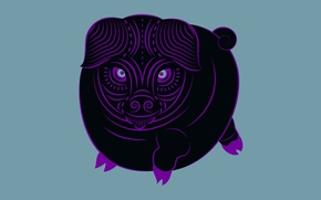 Картинка свинья, зодиак, Zune