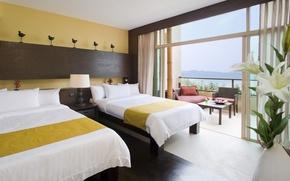 Картинка hotel, room, bed