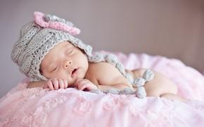 Картинка шапка, сон, малыш