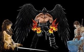 Картинка ангел, Angel, fantasy girl, Огненный ангел, Angel Of Fire
