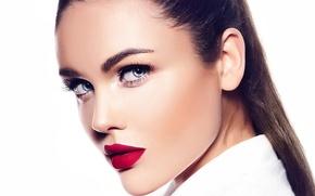 Обои look, brunette, makeup