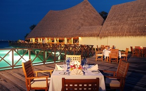 Картинка resort, outdoors, luxury villas, dining area
