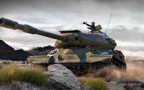 Картинка рисунок, арт, world of tanks, ИС-4, советский тяжёлый танк послевоенного периода