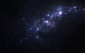Обои свечение, космос, звезды, nebula, созвездие