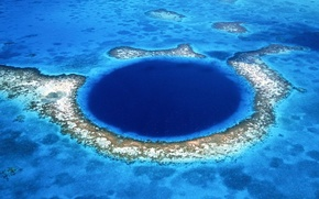 Картинка синий, Остров, атолл