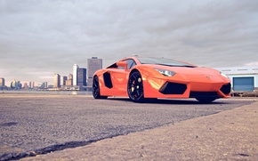 Обои city, суперкар, cars, auto, Supercars, lp700-4, Lamborghini Aventador, wallpapers auto, обои авто, lamborghini aventador, Orang