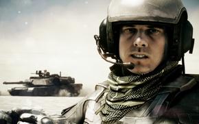 Картинка песок, пустыня, танк, Battlefield, танкист