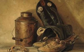 Картинка рисунок, обувь, картина, сапоги, подковы, репродукция, Kyle, Polzin