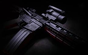 Картинка оружие, оптика, полумрак, магазин, карабин, hd wallpaper, Larue Tactical