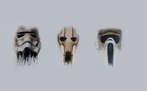 Картинка General Grievous, Stormtrooper, Star wars, Biker Scout Helmet