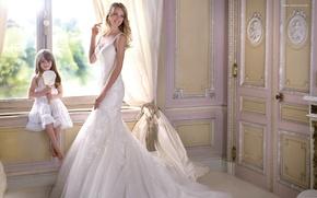 Картинка улыбка, праздник, модель, платье, девочка, невеста, свадьба, Lindsay Ellingson
