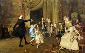 Картинка картина, живопись, painting, из серии Старые мастера, урок танца, the dance lesson