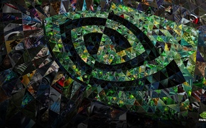 Картинка абстракция, узор, nvidia, logo