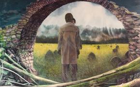 Картинка Christer Karlstad, картина, Half Asleep, Half Awake