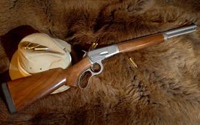 Обои лев, шляпа, шкура, патроны, винтовка, карабин, сафари, 500s