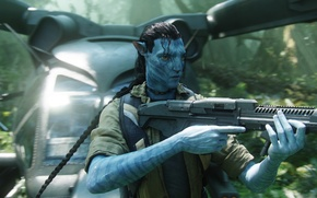 Обои аватар, Оружие, Вертолет, Avatar