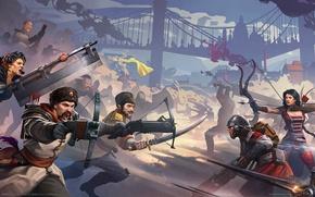 Картинка оружие, война, игра, мечи, game wallpapers, арбалеты, BattleCry
