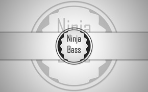 Картинка Bass, black, Ninja, white