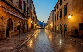 Картинка sunrise, Stradun, Хорватия, Дубровник, Dubrovnik, Croatia