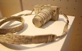 Картинка макро, фон, newspaper camera