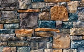Картинка wall, stone, colorful pattern