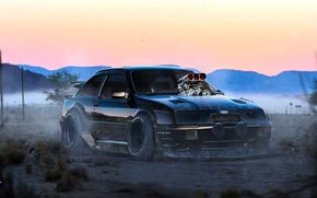 Картинка Ford, Tuning, Future, Mad Max, Escort, RS500, by Khyzyl Saleem, Cozzie
