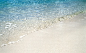 Картинка песок, пляж, вода, берег