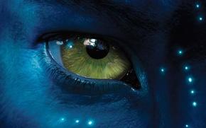 Обои аватар, avatar, синий, глаз