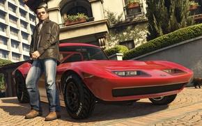 Картинка машина, дом, Майкл, gta, лос сантос, Grand Theft Auto 5