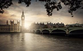 Картинка Лондон, Темза, Вестминстерский мост, Вестминстер