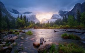 Картинка весна, Калифорния, Апрель, США, Йосемити, национальный парк, штат